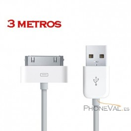 Cable largo iPhone 4G e ipad 1 y 2