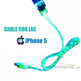 Cable lightning con luz