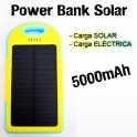Power Bank Solar 5000mAh