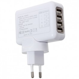 Cargador multiple 4 usb 2A