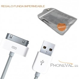 Cable USB blanco para iPhone 4