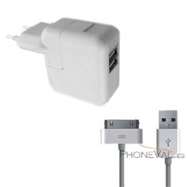 Cargador pared doble USB